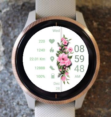 Garmin Watch Face - Pink Flowers