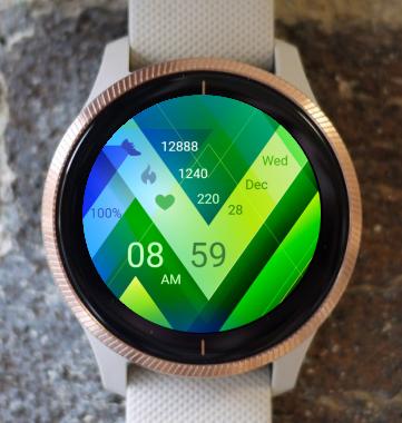 Garmin Watch Face - Green Triangle