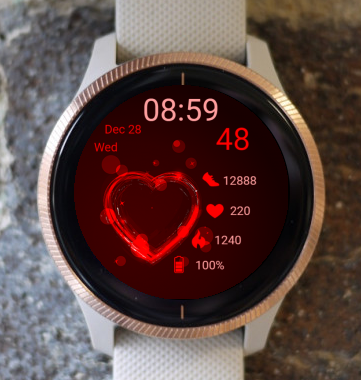 Garmin Watch Face - Red Heart