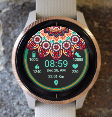 Garmin Watch Face - Ga Mandala 4