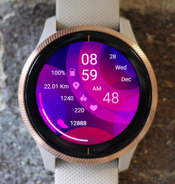 Garmin Watch Face - Pink Circle