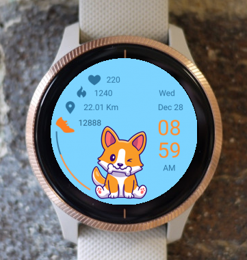 Garmin Watch Face - Happy Dog