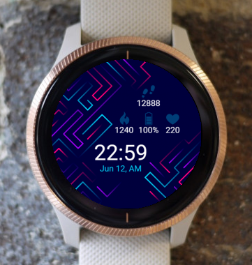 Garmin Watch Face - Neon Lines G