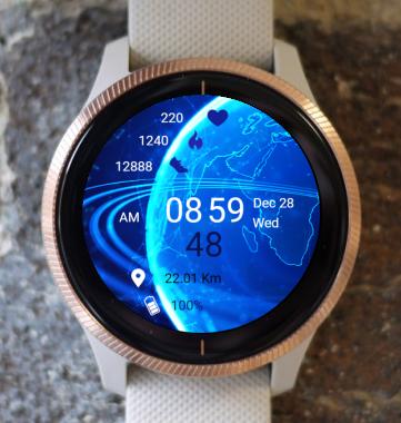 Garmin Watch Face - Blue Earth