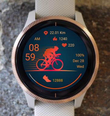 Garmin Watch Face - Bicycle 02