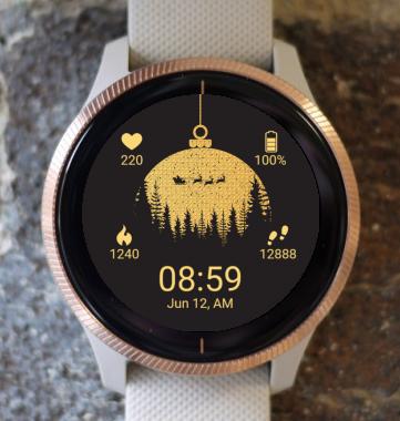 Garmin Watch Face - Christmas Santa Globe G