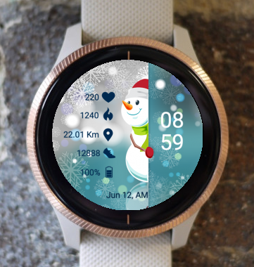 Garmin Watch Face - Snowman