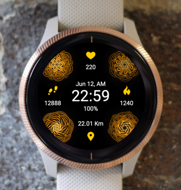 Garmin Watch Face - Mandala C7
