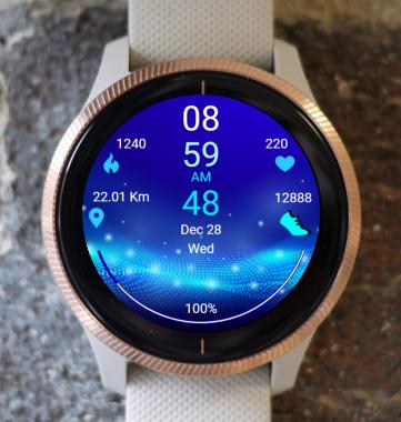 Garmin Watch Face - Sound Wave