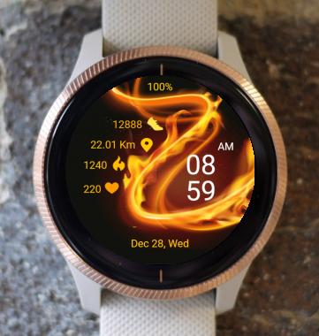 Garmin Watch Face - Fire Wave