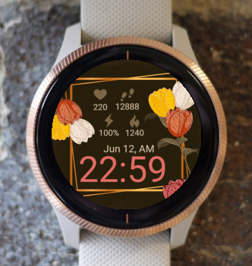 Garmin Watch Face - Rose Flower G
