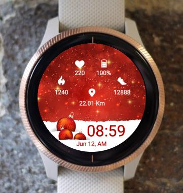 Garmin Watch Face - Christmas Red Sky