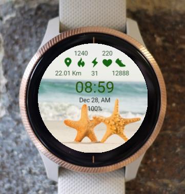 Garmin Watch Face - Starfish In Pairs
