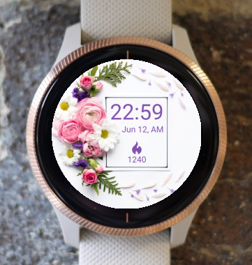 Garmin Watch Face - Flower Circle4