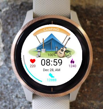 Garmin Watch Face - Camping zone