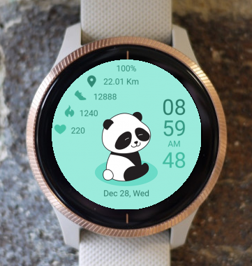 Garmin Watch Face - Happy Panda