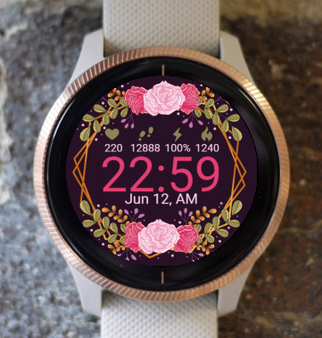 Garmin Watch Face - Pink Flowers G