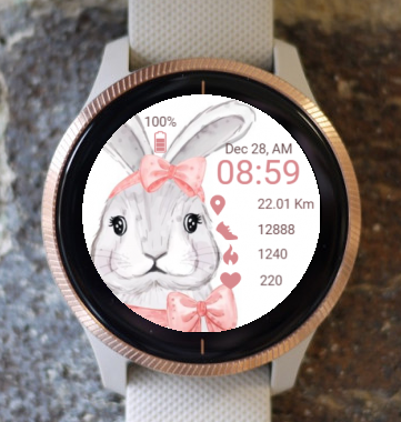 Garmin Watch Face - Easter Bunny 3
