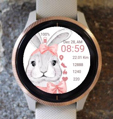 Garmin Watch Face - Easter Bunny 3