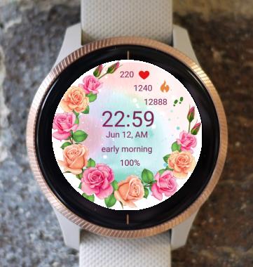 Garmin Watch Face - Flower Fair 21