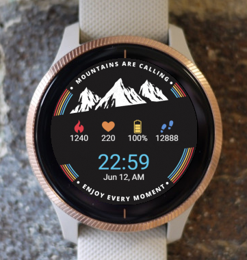 Garmin Watch Face - Mountains Are Calling G