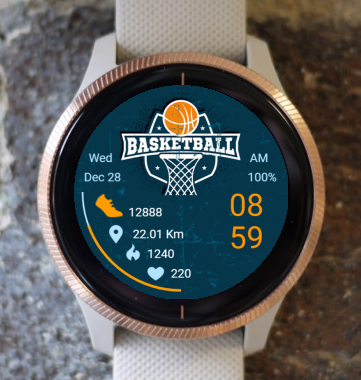 Garmin Watch Face - Basketball 02