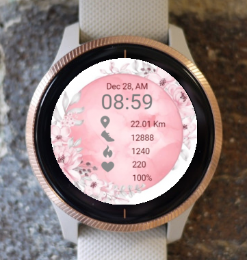 Garmin Watch Face - Pink Marble
