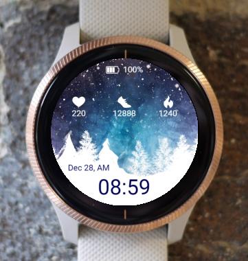 Garmin Watch Face - Snowstorm