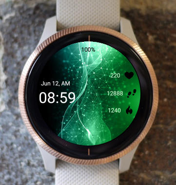 Garmin Watch Face - Green DNA