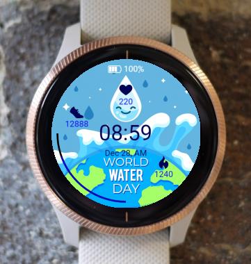 Garmin Watch Face - World Water Day