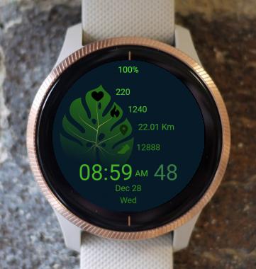 Garmin Watch Face - Green Leaf