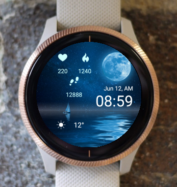 Garmin Watch Face - At Night
