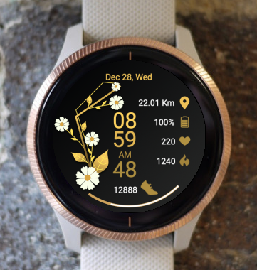 Garmin Watch Face - Gold Spring