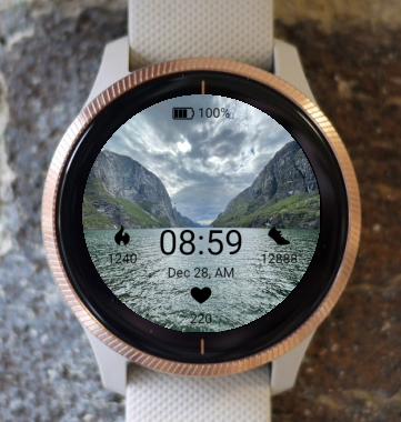 Garmin Watch Face - Lysefjord