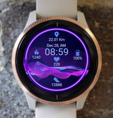 Garmin Watch Face - Ga Waves 2