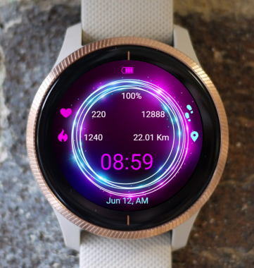 Garmin Watch Face - Neon Circle
