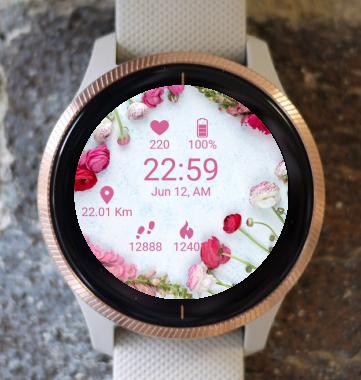 Garmin Watch Face - BW Flower 12