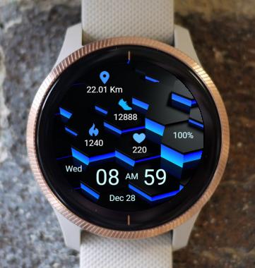 Garmin Watch Face - Blue Lighting