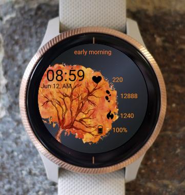 Garmin Watch Face - Autumn Tree