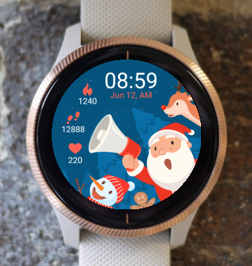 Garmin Watch Face - Christmas Is Coming G