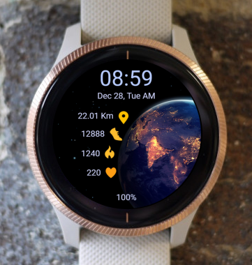 Garmin Watch Face - Earth 05