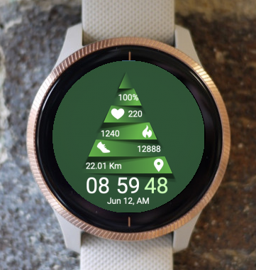 Garmin Watch Face - Green Christmas
