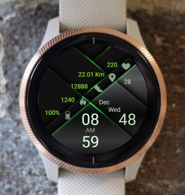 Garmin Watch Face - Green Light