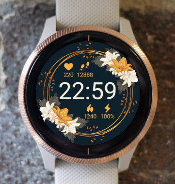 Garmin Watch Face - Flowers G
