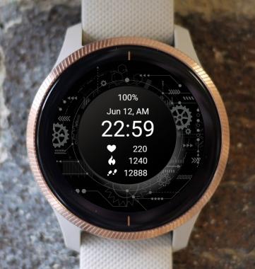 Garmin Watch Face - Black Gear