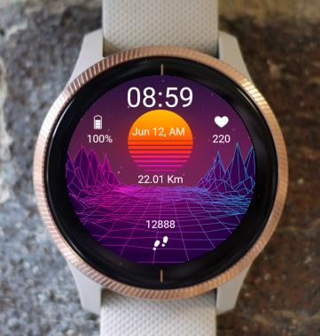 Garmin Watch Face - VGA Space