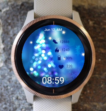 Garmin Watch Face - Blue Christmas