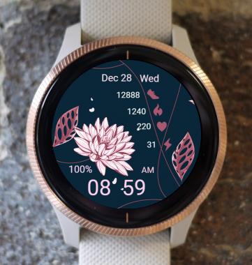 Garmin Watch Face - Pink Flowers 02