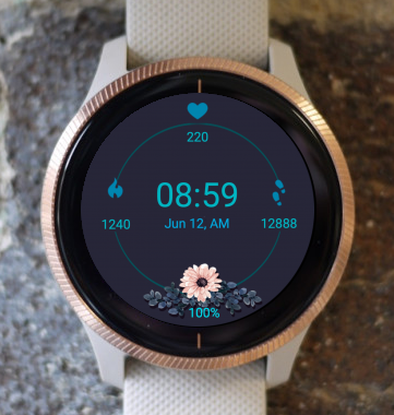 Garmin Watch Face - Fit Flower