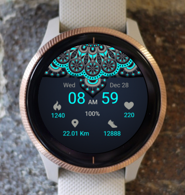 Garmin Watch Face - Mandala T11